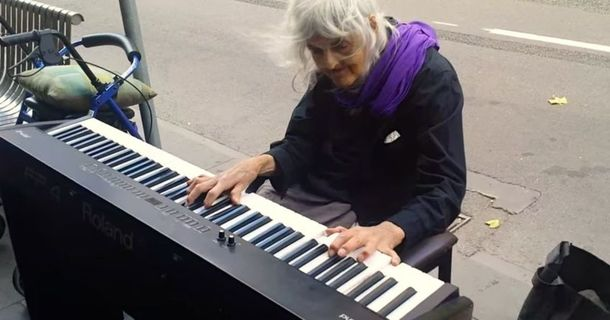 You'd Never Notice This Old Woman On The Street, But Hearing Her Play Is Magical